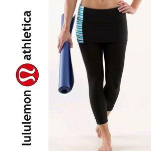 Lululemon A Go Go Crop Skirted Legging Black